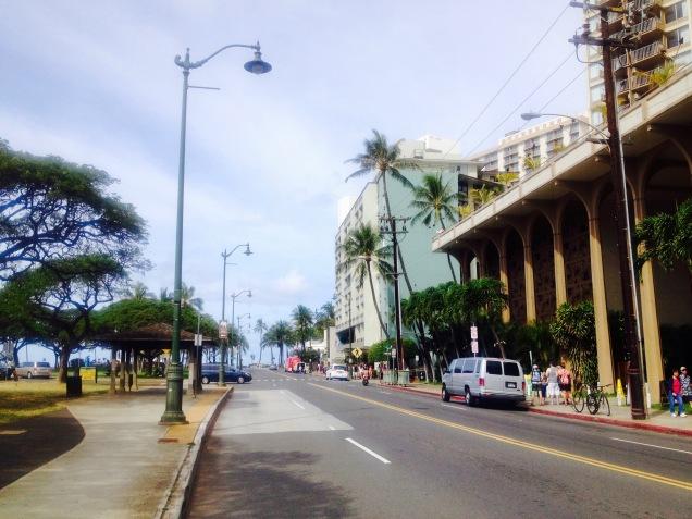 Straße von Waikiki.