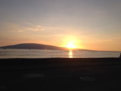 Sonnenuntergang von Lahaina aus