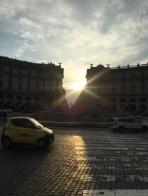 Sonnenuntergang Piazza della Repubblica